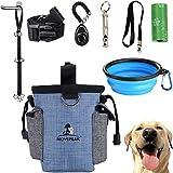 GOTONE Kit di addestramento per Cani Custodia per Cani, Borsa per Cani e campanelli per Cani Regolabili, Fischietto per Cani, Ciotola Pieghevole, Set di addestramento per Cani Clicker