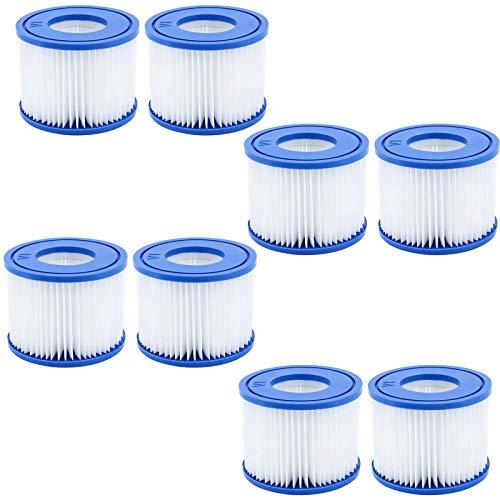 GAODA VI Filterkartusche für Pool, für Bestway Flowclear Pool Filter, Filter Ersatzfilter für Lay-Z-Spa Miami, für Vegas, für Monaco. Größe 6-58323. (8 Pack)