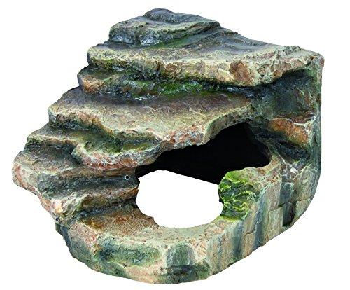 Trixie 76195 Eck-Fels mit Höhle und Plattform, 19 × 17 × 17 cm