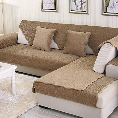 Sofa Abdeckung für Haustiere Hund,Sectional Sofa Anti-rutsch Schmutzresistent Sofa Cover,Verkauft in Stück,Phoenix geprägtes Sofa Pad-Braun_90×160cm
