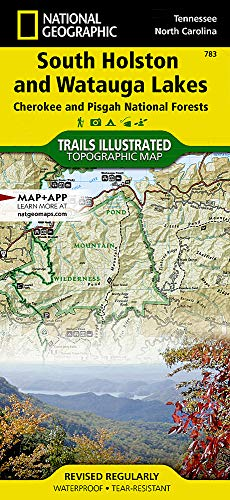 South Holston and Watauga Lakes [Cherokee and Pisgah National Forests] (National Geographic Trails Illustrated Map, 783)