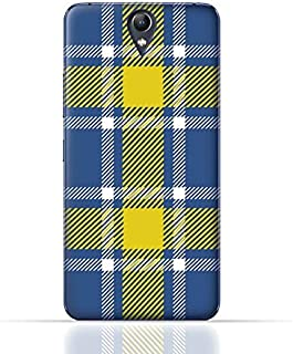 Lenovo Vibe S1 Lite TPU Silicone Case with Blue and Yellow Plaid Fabric Design