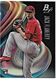 2018 Bowman Platinum #94 Jack Flaherty NM-MT RC Rookie Card St. Louis Cardinals Official MLB Baseball Trading Card in Raw (NM or Better) Condition. rookie card picture