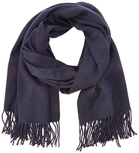 VERO MODA Damen Vmsolid Long Scarf Noos Schal, Blau (Black Iris Detail:Solid), One Size