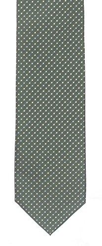 Seidenkrawatte gemustert grün 100% Seide Motiv Krawatte von Monti Herren Muster 8cm