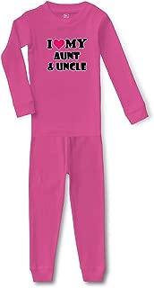 I Love My Aunt and Uncle Cotton Boys-Girls Sleepwear Pajama 2 Pcs Set