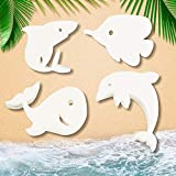 24 Pieces Oil Absorbing Scum Sponge Hot Tubs Cleaning Accessories Swimming Pool and Spa, 4 Different Sea Themed Shapes