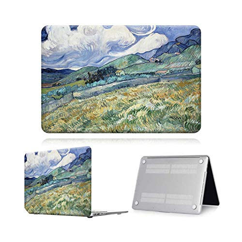 Peach-Girl Case for Macbook Air Pro Retina 11 12 13 15 Touch Bar Painting Laptop Case Cover + Keyboard Protector for Air 13 (A 1932) A2179-Mountain Paint-Pro 13 A2159 (2019)