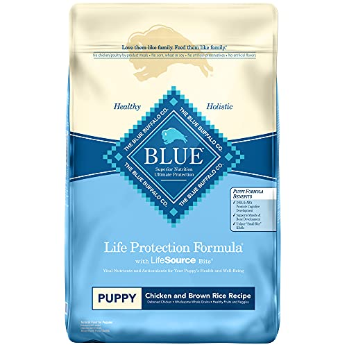 Blue Buffalo Life Protection Formula Puppy Dog Food , Natural Dry Dog Food for Puppies , Chicken and Brown Rice , 15 lb. Bag