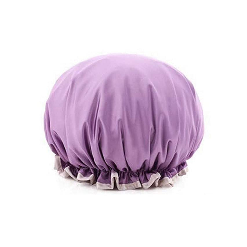 アーサーコナンドイルと闘う構成員KYK キャップシャワー、女性はすべての髪の長さと厚さの女性のためのキャップデラックスシャワーキャップシャワー - 防水やカビ耐性、再利用可能なシャワーのキャップを。 (Color : Pearl powder)