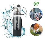 Petsandco Gourde pour Chien, Animaux de Compagnie, Bouteille d'Eau Chien et Hommes, Pratique, Activités Sportives, Pet Travel Water Drink, BPA Free et Recyclable (600ml)