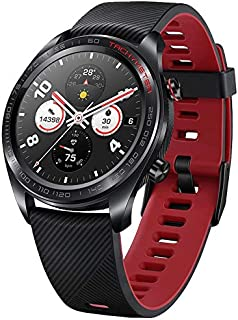 Huawei Honor Watch Magic Watch Sport Fitness Activity Tracker Run Cycling Swimming Mountain Sleep Heat Rate Monitor Long Battery Life - Lava Black