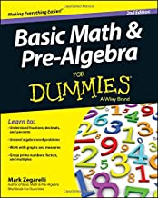 Basic Math and Pre–Algebra For Dummies