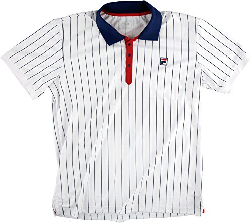 Fila Herren Polo Stripe1 Men Oberbekleidung, weiß, M