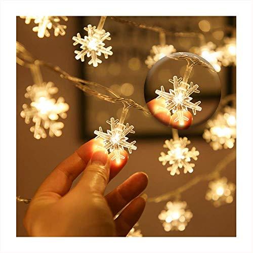 Wondsea Schneeflocken-Lichterkette