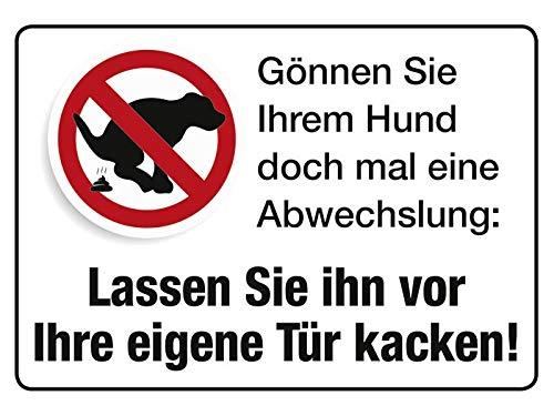 Hundeabwechslung 10x15 cm Blechkarte Blechschild PC302/194