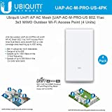 UniFi Mesh AC Pro UAP-AC-M-PRO-US 4 Units 802.11AC 3x3 MIMO Outdoor Wi-Fi Access Point Wide-Area Dual-Band AP