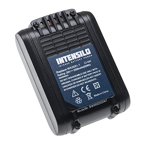 INTENSILO Batería compatible con Worx WX175.1, WX175.9, WX176, WX176.3, WX176.9, WX178, WX178.1, WX178.9 herramientas eléctricas (2500mAh Li-Ion 20V)