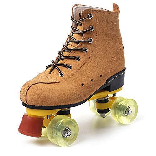 Retro Disco Roller Rollschuhe Damen Herren Gute Skates Mit PU Räder Für Outdoor Und Indoor,Gelb,39