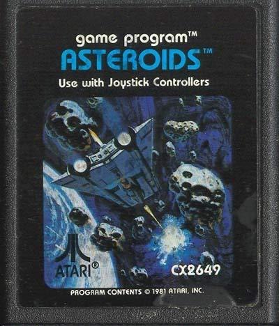 Asteroids Vintage Atari 2600 Video Game Cartridge
