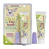 Oral7 Tiny Teeth. Baby Zahnpasta mit den Enzymen der Muttermilch für weniger Karies. Mit Gratis Fingerling. Zahnpasta Baby mit tollem Apfel-Geschmack. Zahncreme für Babies (6-24 Monate)