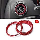 4Pcs Auto Lüftungsringe Konsole Klimaanlage Dekoration Ring Car Styling für A3 S3 2013-2016 Rot