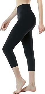 TSLA Capri Yoga Pants with Pockets, 17Inches / 21Inches Capri Workout Leggings, 4-Way Stretch Yoga Capri Leggings w Hidden...