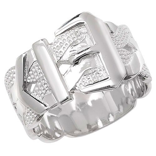Sterling Silver Mens Buckle Ring Brand New