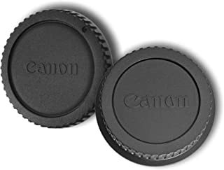 SET of Camera Body Cap and Rear Lens Cover Cap for Canon EOS