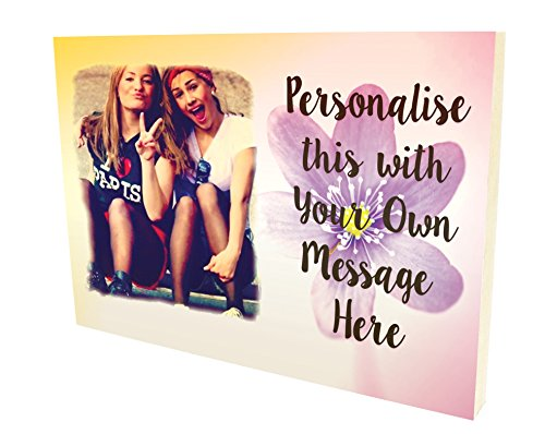 Personalised Message and Photo Plaque with photo best friends friendship...