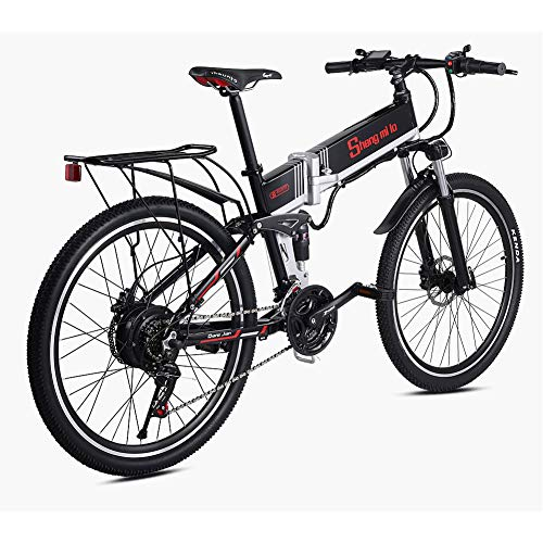 LCLLXB Bicicleta eléctrica 48V 500W Bicicleta de montaña asistida Litio Bicicleta eléctrica Ciclomotor Bicicleta eléctrica eléctrica
