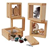Constructive Playthings Discovery Windows, Set of 4 Blocks to Be Filled and Viewed, Ages 2-8 Years