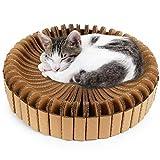 PrimePets Cat Stratching Corrugated Cardboard Scratcher Lounge (Lotus Shape)