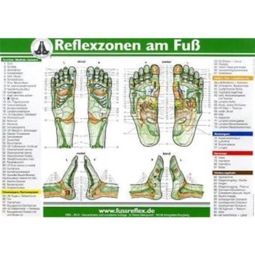 Die Reflexzonen der Füße (A5) von Hanne Marquardt (18. Mai 2011) Poster