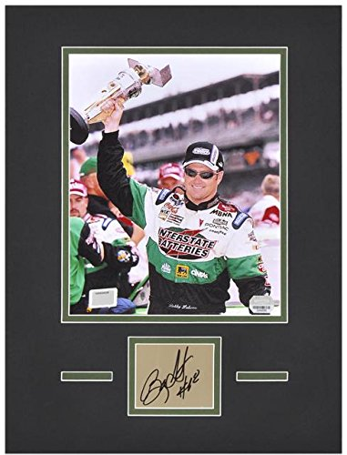 "Bobby Labonte Matted 8"" x 10"" Photo with Autograph & Plate - Fanatics Authentic Certified - Autographed NASCAR Photos"