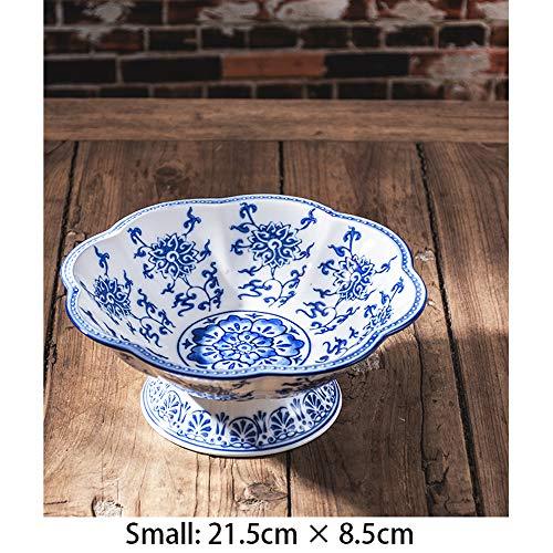 QQDL Obstteller aus Keramik Einfach und kreativ Hand gezeichnet Obstschale Modern Kreative Keramik Gute Qualität