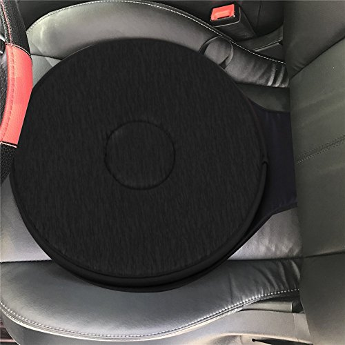 Hete-supply Swivel Seat Cushion For Car For Elderly, 360° Rotation Lightweight Portable Memory Foam Auto Swivel Seat Cushion Anti-Slip For Back, Hip, Tailbone Pain Suffer