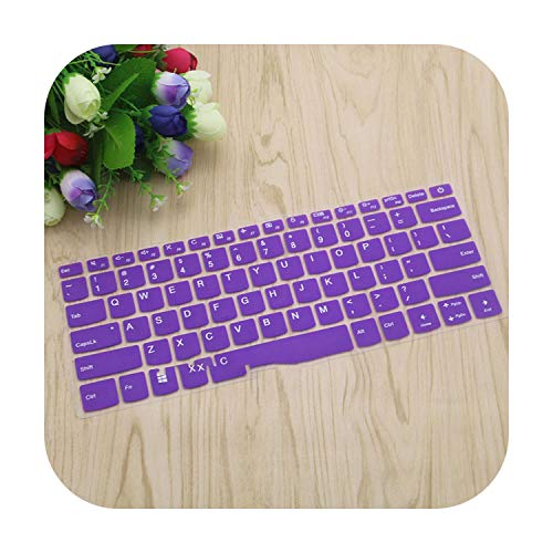 Silicone Keyboard Cover Skin Protector for Lenovo Yoga 720 14'' 320S 120S 14'' Flex 5 14'' Xiaoxin 7000-14-Purple-