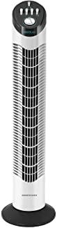 Cecotec Ventilador de Torre con Temporizador EnergySilence 790 Skyline. 50 W, 30'' (76cm) de Altura, Mecánico, Oscilante, ...