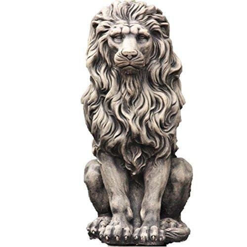 Löwe, Skulptur aus Steinguss ANTIKOPTIK, Figur Frostfest