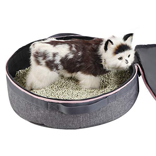 Petsfit tragbare Katzenwurfpfanne bei Reise, Faltbar, leichte und einfache Reinigung 10cm x 39cm x 39cm