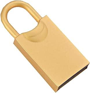 USBフラッシュディスク クリエイティブ 漫画のサメ ポータブル 高速 PVC 4G / 8G / 16G / 32G / 64G USB3.0最大100 MB/sの転送速度 安全で安定した コンピュータTVプレイヤーカー用 (32GB, ゴールド-2)
