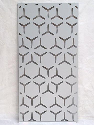 Easy Garden Screen Decorativo Metal jardín Protector de–diseño geométrico–1200mm x 600mm x 1,6mm–Soporte de Corte láser Panel Orificios de fijación, Ghost White