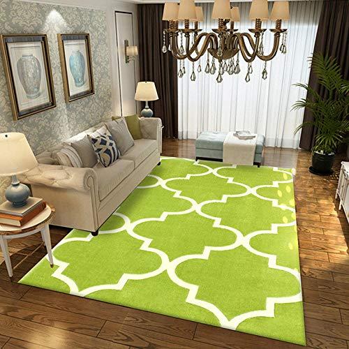 Geometrische moderne tapijt voor woonkamer Slaapkamer Slaapbank Koffie Studie Anti-Slip Tapijten Showcase tapijten Huishoudelijke tapijt 120cmX160cm Groen