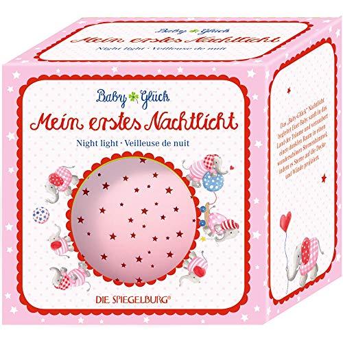 Die Spiegelburg 15282 Nachtlicht Sternenhimmel BabyGlück, rosa (Elefant)