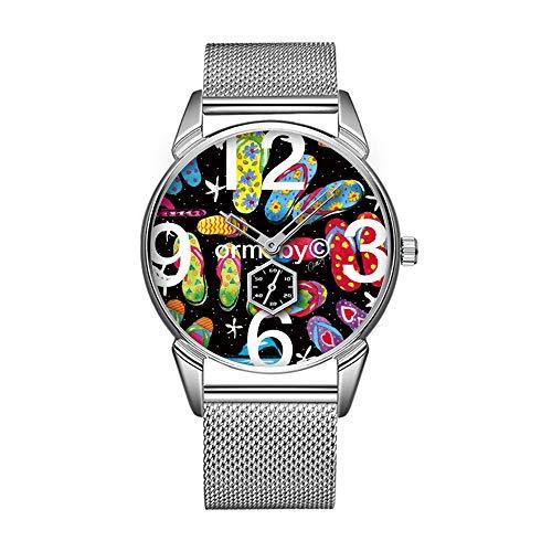 Mode wasserdicht Uhr minimalistischen Persönlichkeit Muster Uhr -359. Flip-Flops Watch