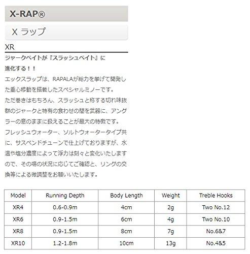 ラパラ ミノー Xラップ 8cm 7g シルバー S XR8-S ルアー