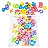 100 Stück Badespielzeug Badewannenspielzeug - Geeignet für Kinder & Babys - 100 Buchstaben des...