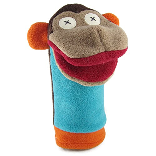 "Cate and Levi 12"" Handmade Softy Monkey Hand Puppet (100% USA Polar Fleece)"