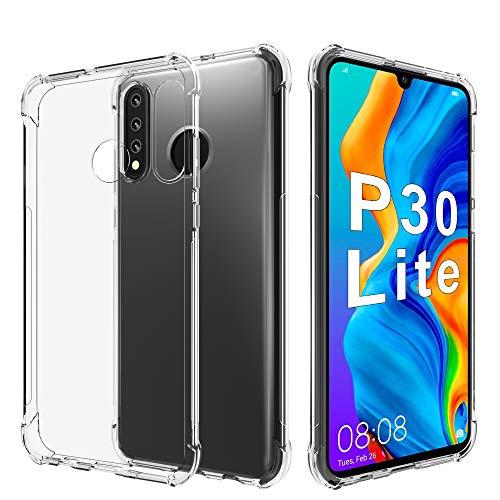 Migeec Hülle für Huawei P30 Lite/New Honor 20s Transparent [Stoßfest] Weiche Silikon [Kratzfest] Flex TPU Bumper handyhülle Durchsichtige Schutzhülle